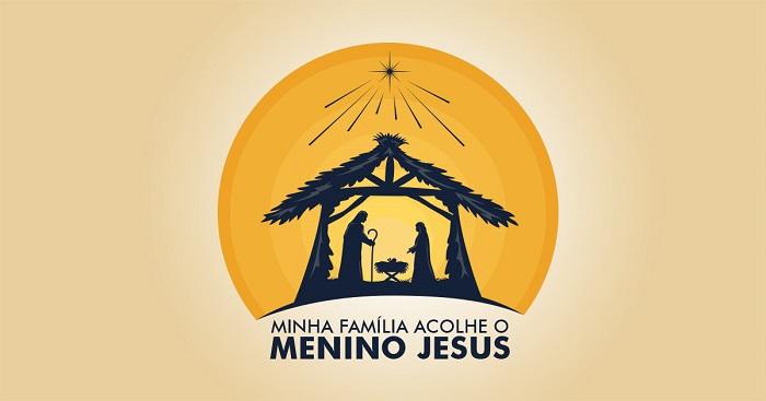 Minha família acolhe o menino Jesus